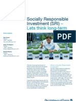 Socially Responsible Investment Lets Think Long Term