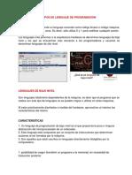 TIPOS DE LENGUAJE DE PROGRAMACION