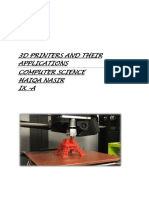 3D PRINTERS AND THEIR APPLICATIONS.docx