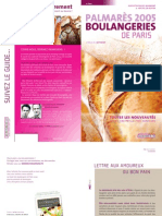 Palmares 2005 Boulangeries de Paris