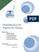 Flexibilisation de Regime de Change