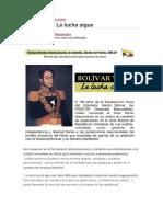 FARC  Bolívar vive La lucha sigue