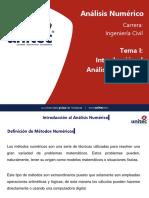 Tema I - Introducción al Análisis Numérico