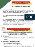 2.- ALEGATOS DE APERTURA