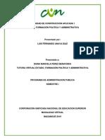 ACA 1 ESTADO, FORMACIÓN POLÍTICA Y ADMINISTRATIVA