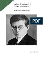 Análisis del primer movimiento del cuarteto nº8 de Shostakovich