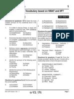 IIFT & NMAT English