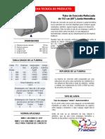 TUBO DE CONCRETO DE 60 PULGADAS CON ACERO DE REFUERZO Y LIGA PARA JUNTA HERMÉTICA NORMA NMX-C-402-ONNCCE-201 (1).pdf