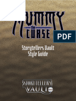 Mummy The Curse Storytellers Vault Style Guide (with bookmarks) 3_29_2019
