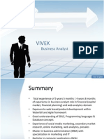 Vivek Profile Business Analyst