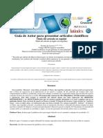 GUIA REDACCION DE ARTICULOS REVISTA CIENTÍFICA