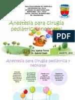 Anestesia para Cirugia pediatrica y neonatal