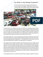 Why Should I Sell My vehicle To Auto Salvage Companies?