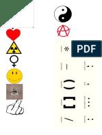 signos simbolos