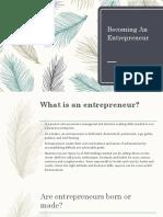Becoming An Entrepreneur kmac