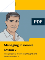 Managing Insomnia Lesson 2