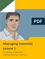 Managing Insomnia Lesson 1