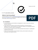 Cost Accounting Definition