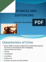 Presentation  on Sentences and Sentencing by Nirmal Kanti Chakraborty