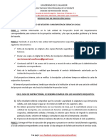 Instructivo Digital 2015 del Servicio Social UES