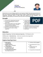 piping resume 2015