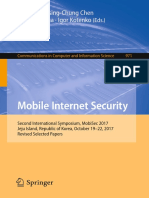 (Communications in Computer and Information Science 971) Ilsun You, Hsing-Chung Chen, Vishal Sharma, Igor Kotenko - Mobile Internet Security_ Second International Symposium, MobiSec 2017, Jeju Island,