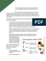 PIB Y CARATERISTICAS DEL MERCADEO