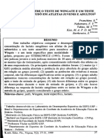 COMPARAÇÃO ENTRE O TESTE DE WINGATE E UM TESTE