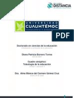 DIANA PATRICIA BORRERO TORRES Actividad 2.4 La teleologia de la educacion