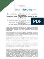 Nota de Prensa-Convocatoria de Becas F Eduarda Justo-Colegios Del Mundo Unido