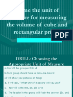 Q4 Lesson 87 Name the unit of measure for measuring the volume of cube and rectangular prism.