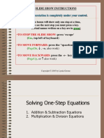 Lesson Presentation_One-Step Equation.pps