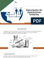 Presentación sobre Descripción de Operaciones Unitarias