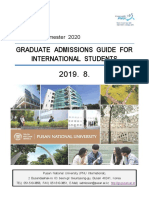 Spring Semester 2020 GRADUATE ADMISSION GUIDE FOR INTERNATIONAL STUDENTS (1)