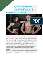 Tudo O Que Você Precisa Saber Sobre Tonificação E Definição Muscular