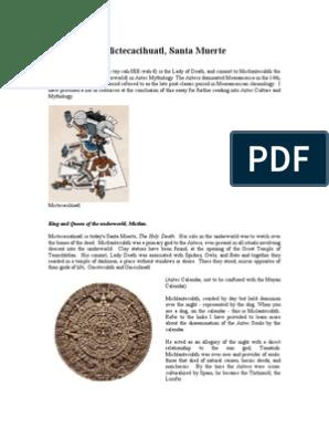 Mictecacihuatl, Santa Muerte   Religion And Belief