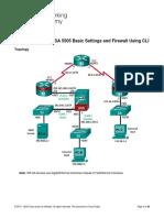 9.3.1.2 Lab - Configure ASA 5505 Basic Settings and Firewall Using CLI
