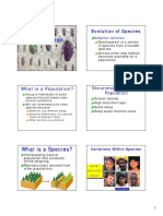 Species, Speciation, Evolution