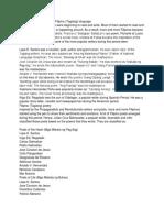 The Philippine Literature in Filipino (Tagalog) language.docx