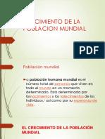 CRECIMIENTO DE LA POBLACION MUNDIAL