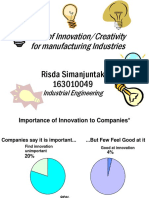 Role of Creativity For Manufacturing Industries - Risda S 163010049 Industrial Engineering-1.pptx