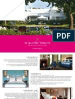 Le Quartier Francais - room-menu