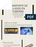 Transporte de fluidos en tuberías. 1