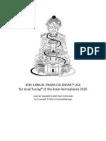 Us a Prana Calendar 2020