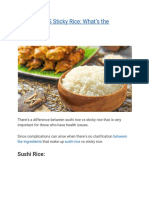 Sushi Rice vs Sticky Rice_ What's the Difference