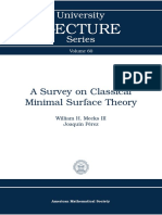 (University Lecture Series 060) William H., III Meeks, Joaquin Perez - A survey on classical minimal surface theory-American Mathematical Society (2012)