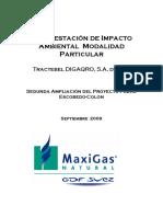 MIA, Ampliación del Proyecto Pedro Escobedo Colón. GAS