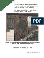 MIA. Hospital Star Médica, Mod. Particular para Cambio de Uso del Suelo de Forestal a Urbano.  22QE2010UD052