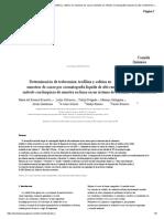 Determinación de teobromina, teofilina y cafeína en muestras de cacao mediante un método cromatográfico líquido de alto rendimiento con