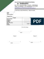 Form Rekapitulasi Nilai Ujian Proposal dan Sidang Skripsi